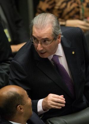 Eduardo Cunha durante sessão na Câmara dos Deputados