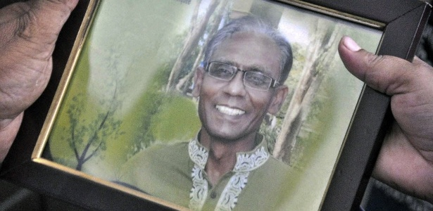 Foto do professor universitário Rezaul Karim Siddique, assassinado em Bangladesh