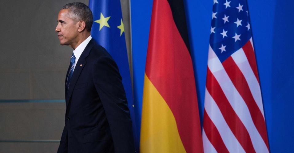 17.nov.2016 - Barack Obama após coletiva de imprensa em Berlim