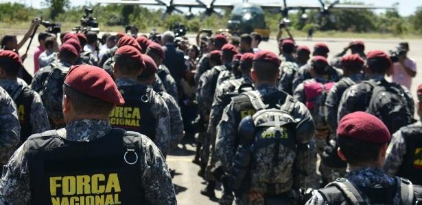 Força Nacional foi chamada para ajudar na crise de segurança