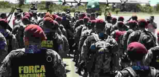 10.jan.2017- Agentes da Força Nacional de Segurança - Luan Santos/UOL