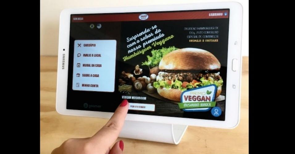 Cardápio digital do Jamp Burger