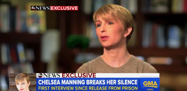 Chelsea Manning concede entrevista à rede de TV ABC, dos EUA