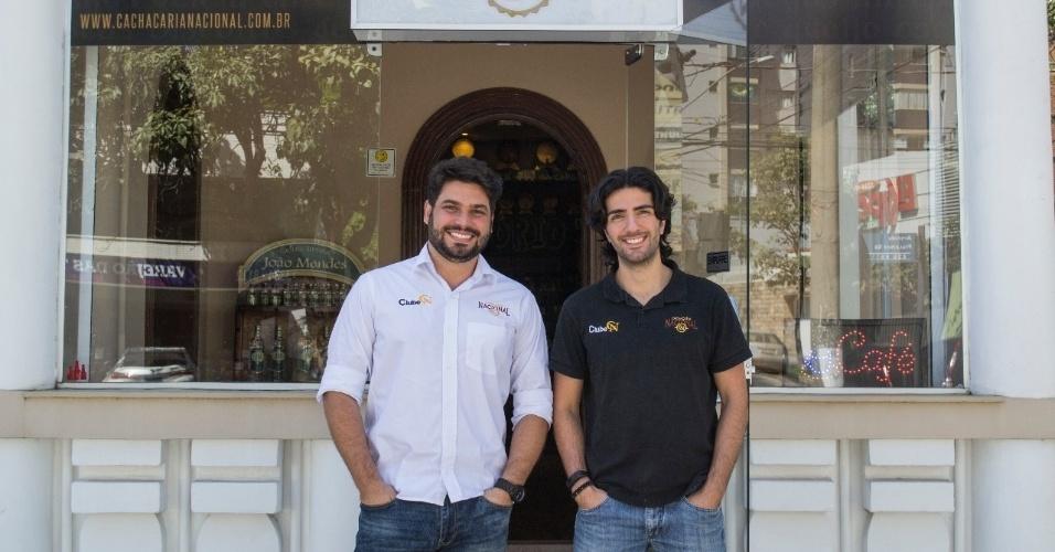 Marcos Paolinelli e Rafael Araújo são sócios na Cachaçaria Nacional