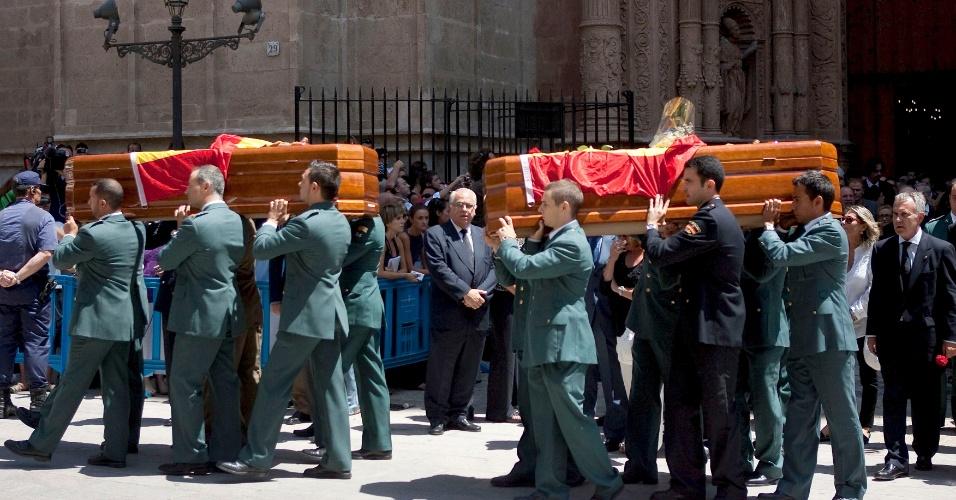 31.jul.2009 - Último atentado do ETA em solo espanhol, em Palma de Mallorca, deixou dois policiais mortos