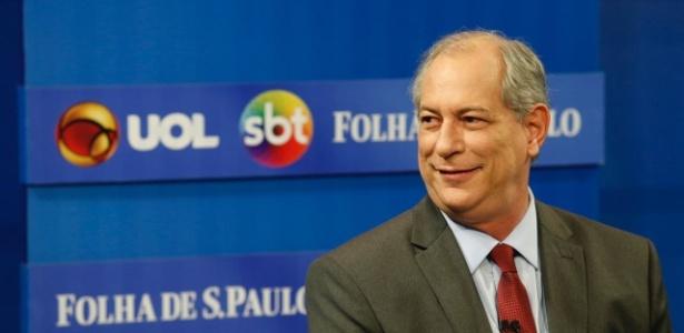 Ciro Gomes na sabatina UOL, Folha e SBT
