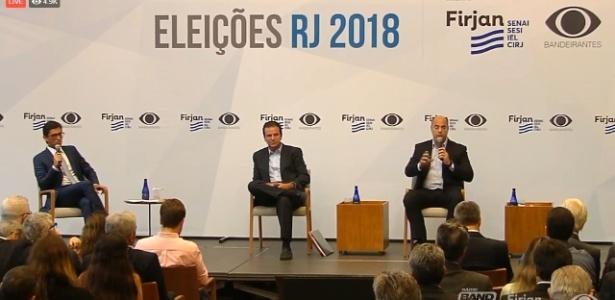 Os candidatos do governo do Rio Eduardo Paes (à esq.) e Wilson Witzel (à dir.)