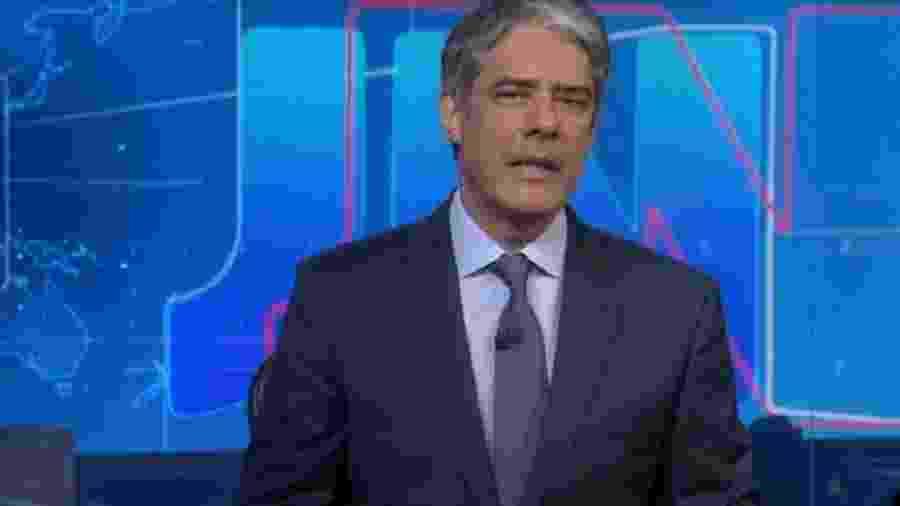 William Bonner, durante Jornal Nacional - Reprodução/Globo