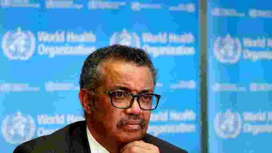 """Diretor-geral da OMS, Tedros Adhanom Gebreyesus, disse que efeitos do coronavírus continuarão """"sendo sentidos nas próximas décadas"""" - Reprodução"""