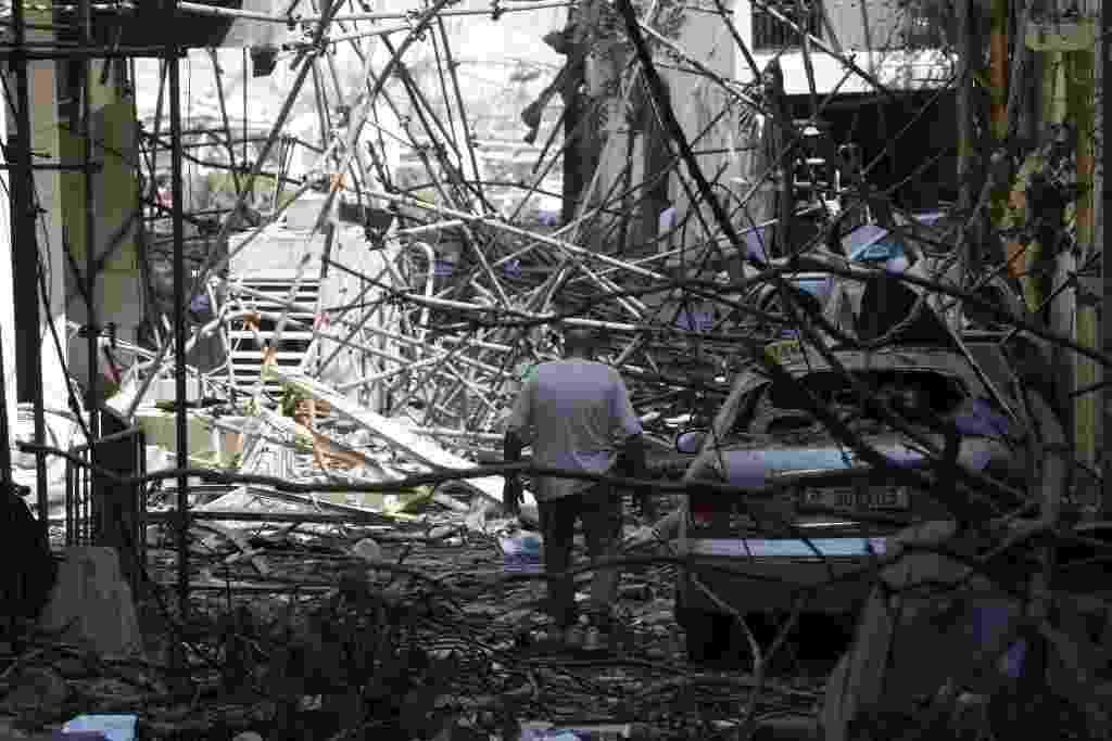 05/08/2020 - Porto de Beirute: Uma visão do dia seguinte à explosão no Líbano - Getty Images/Getty Images