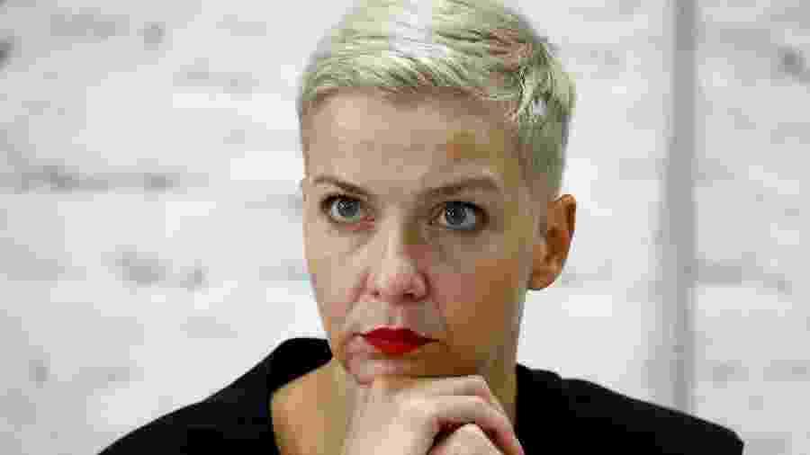 Maria Kolesnikova rasgou o passaporte para não ser deportada - VASILY FEDOSENKO/REUTERS