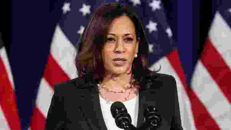 Kamala Harris é a primeira afro-americana a concorrer à Vice-Presidência por um dos dois grandes partidos dos Estados Unidos - Reuters - Reuters