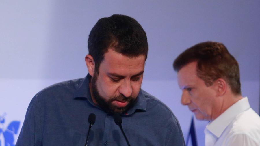 10 nov. 2020 - Celso Russomanno (Republicanos) e Guilherme Boulos (Psol) em debate do jornal O Estado de S. Paulo - WERTHER SANTANA/ESTADÃO CONTEÚDO