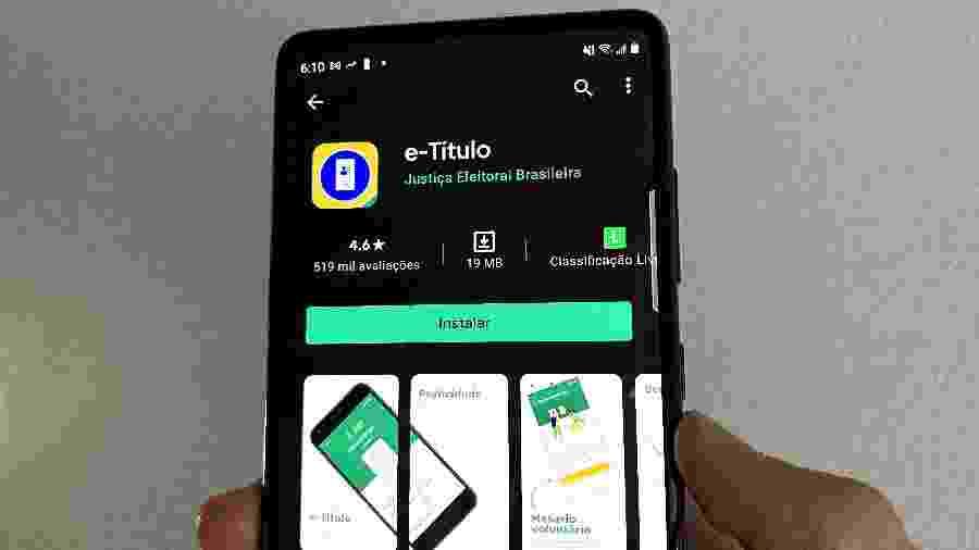 Aplicativo e-Título disponível para download no Google Play - Lucas Carvalho/Tilt