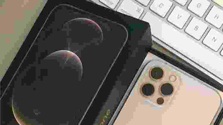 Publicitária Lilian Estevanato recebeu um iPhone 12 Pro (foto) após ter recebido por engano um caixa de iPhone com um saco de areia dentro - Arquivo Pessoal - Arquivo Pessoal