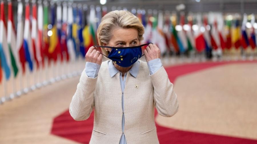 Presidente da Comissão Euopeia, Ursula Von der Leyen, prometeu aumentar o apoio financeiro para ajudar países mais pobres a combaterem a mudança climática - Thierry Monasse/Getty Images