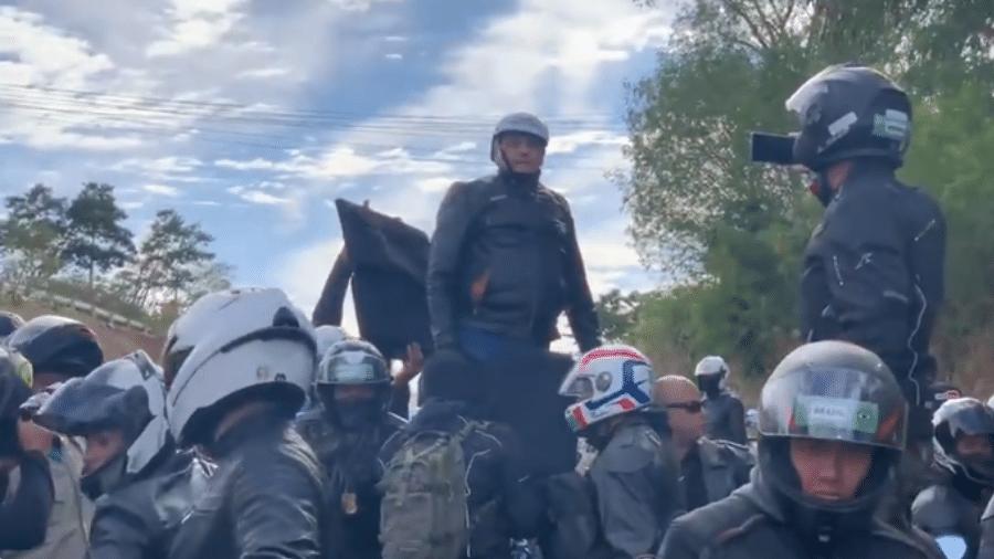 Jair Bolsonaro se reúne com apoiadores para um passeio de moto em Presidente Prudente (SP) - Reprodução/Redes sociais
