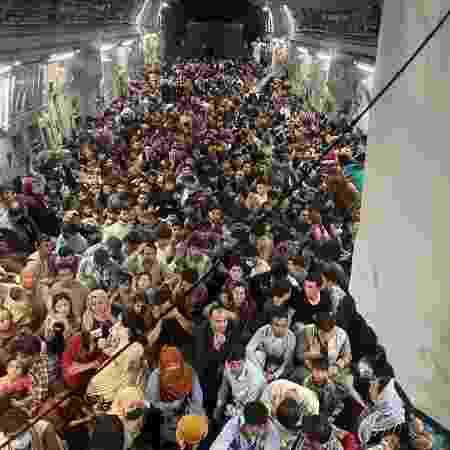 Avião teria decolado de Cabul com 640 passageiros - Reprodução/Instagram - Reprodução/Instagram
