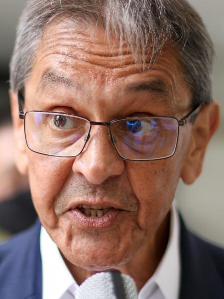 26.fev.2021 - Presidente nacional do PTB, Roberto Jefferson, em Curitiba (PR) - Eduardo Matysiak/Futura Press/Estadão Conteúdo