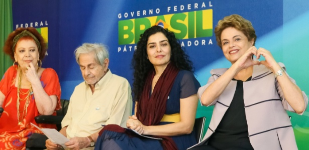O escritor Raduan Nassar participa de encontro com a presidente Dilma Rousseff, em março - Roberto Stuckert Filho/PR