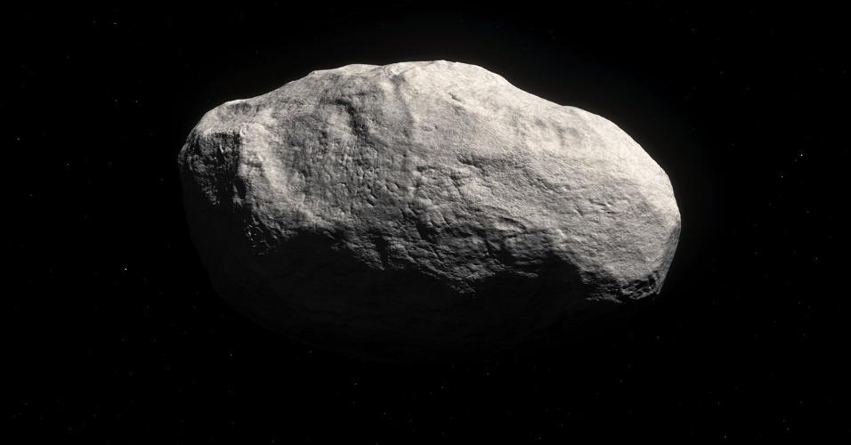 29.abr.2016 - COMETA DA ÉPOCA DA FORMAÇÃO DA TERRA - Astronautas descobriram um objeto rochoso único que parece ser feito de matéria do Sistema Solar, e que seria do período da formação da Terra. Se comprovada sua origem, esse antigo cometa sem cauda pode fornecer importantes pistas de como o Sistema Solar se formou. De acordo com os cientistas da ESO (Observatório Europeu do Sul), o objeto deve ter feito parte de um planeta rochoso, como a Terra, mas foi expelido para fora do sistema e ficou preservado por ter sido congelado durante milhares de anos na Nuvem de Oort. Essa nuvem rodeia o Sistema Solar, como uma bolha, e acreditam que há entre um e cem bilhões de cometas congelados na região