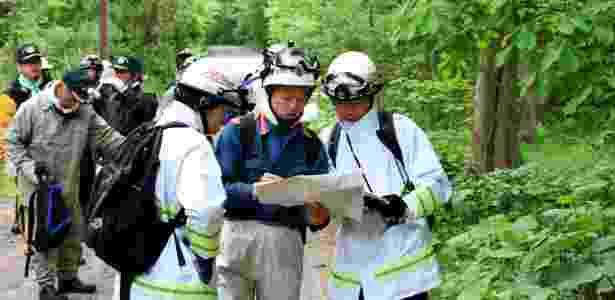 Grupos organizam buscas por menino de sete anos que está desaparecido há três dias, na localidade de Nanae, na ilha de Hokkaido, no Japão - Kyodo/Reuters