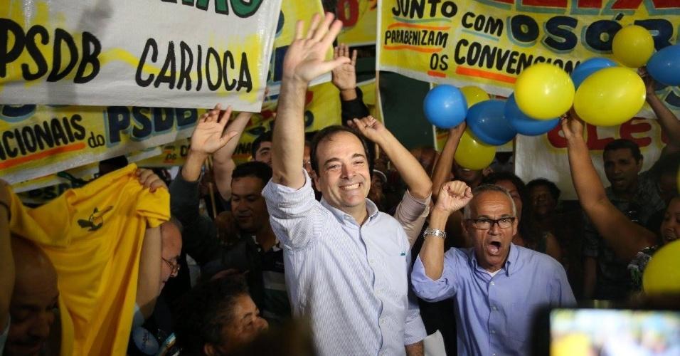 23.jul.2016 - O deputado estadual Carlos Osorio (PSDB-RJ) discursa na convenção do partido que oficializou sua candidatura a prefeito do Rio de Janeiro