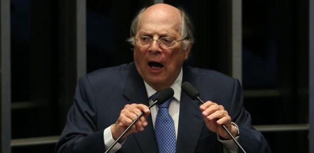 O jurista Miguel Reale Jr., durante o processo de cassação de Dilma Rousseff