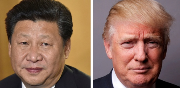 Xi Jinping, presidente da China, e Donald Trump, presidente dos EUA