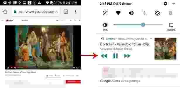 Android 2 - Veja como ouvir música no Youtube e usar em outros apps ao mesmo tempo - UOL - UOL
