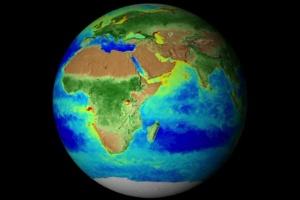 Nasa divulga vídeo acelerado com a 'mais completa imagem global da vida na Terra' (Foto: BBC)