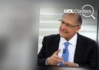 Símbolo de facção criminosa apareceu em vídeo de Alckmin (Foto: Arte/UOL)