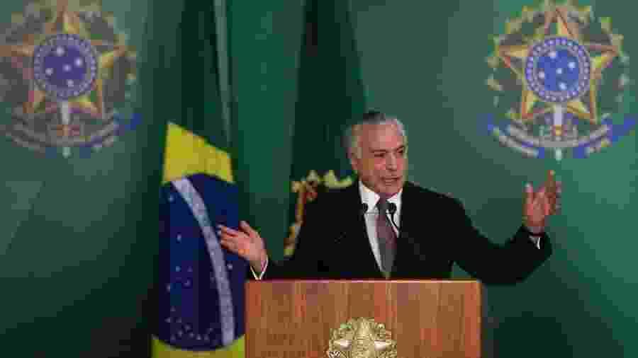 05.out.2018 - Temer faz pronunciamento sobre 30 anos da Constituição Federal - José Cruz/Agência Brasil