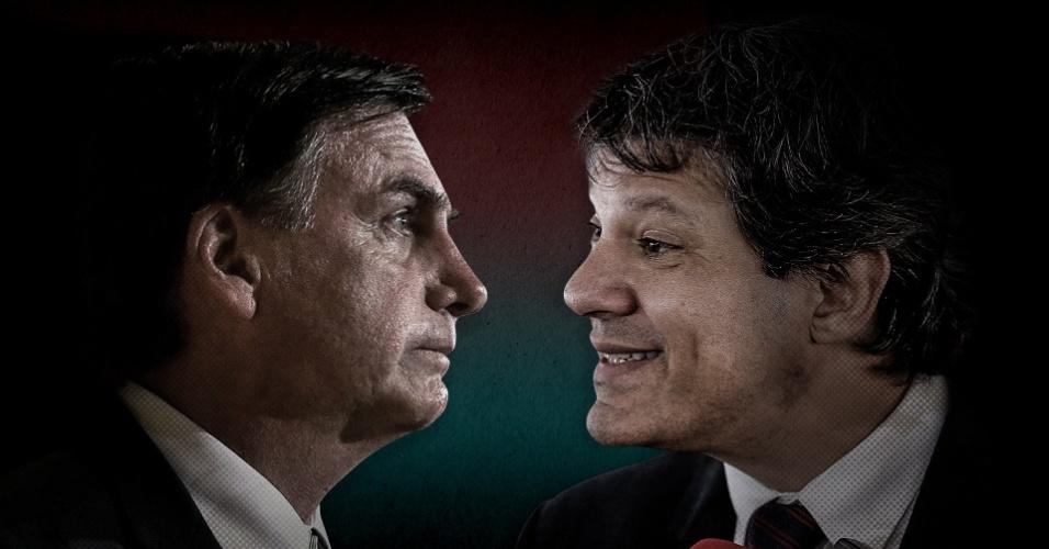 Confronto nas redes sociais   Bolsonaro e Haddad batem boca na web sobre debate