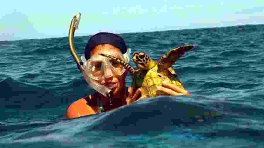 Oceanóloga Maira Proietti começou a estudar tartarugas marinhas em 2004 - Divulgação