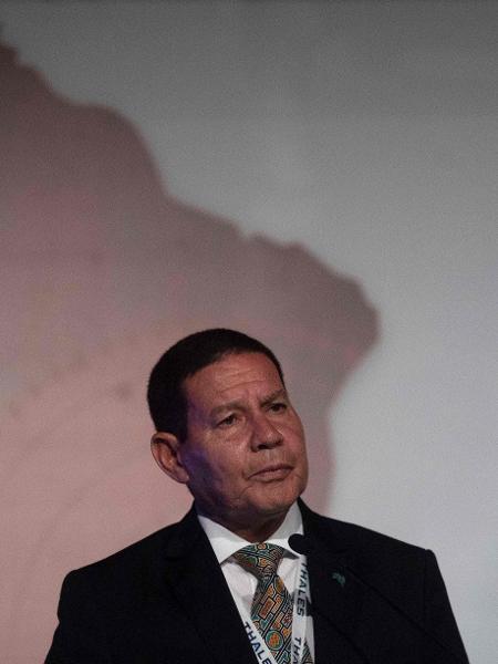 O vice-presidente Hamilton Mourão (PRTB) - Mauro Pimentel/AFP