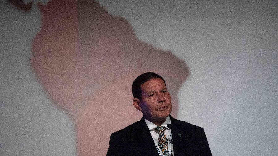 Vice-presidente Hamilton Mourão em evento no Rio de Janeiro - Mauro Pimentel/AFP