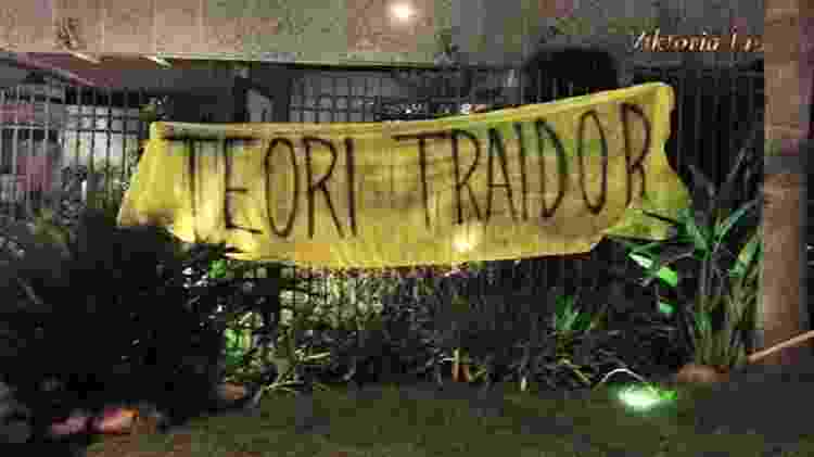 Protesto em frente ao apartamento do ministro do STF Teori Zavascki - Banda Loka Liberal/Divulgação