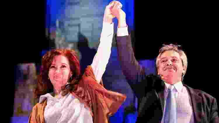A ex-presidente Cristina Kirchner participa de ato político ao lado do candidato à presidência Alberto Fernández - Divulgação/Frente de Todos