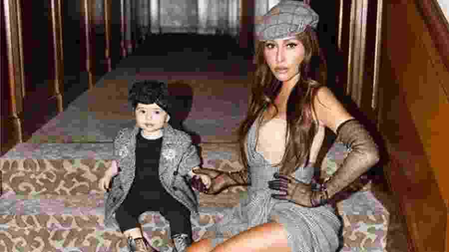 Na Itália, Sabrina combina look Dolce & Gabbana com a filha - Reprodução/Instagram