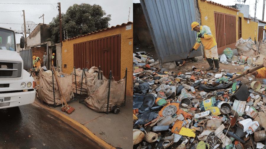 Lixos recolhidos da casa de idosa em Ribeirão Preto, no interior de São Paulo - Alexandre de Azevedo/Prefeitura de Ribeirão Preto