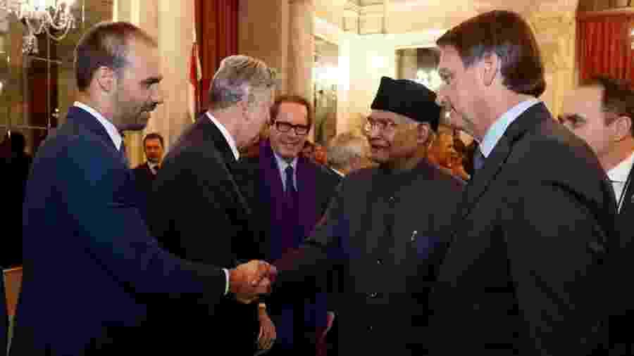 Eduardo Bolsonaro também compôs comitiva do presidente brasileiro à Índia - Alan Santos/PR