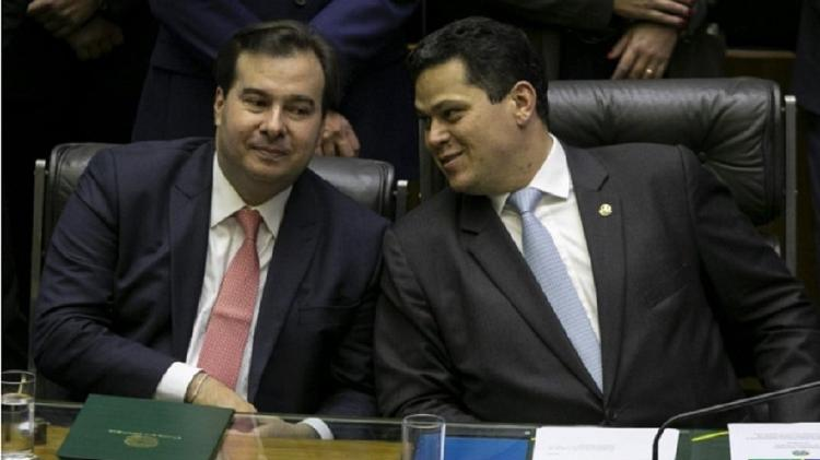 Os presidentes da Câmara, Rodrigo Maia, e do Senado, Davi Alcolumbre - Sérgio Lima/Poder 360
