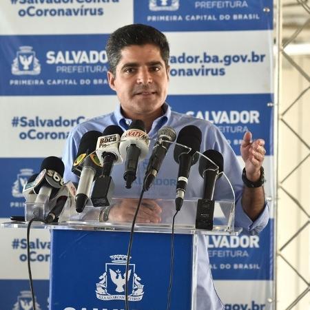 O prefeito ACM Neto durante coletiva de imprensa - Max Haack/Secretaria de Comunicação da Prefeitura de Salvador