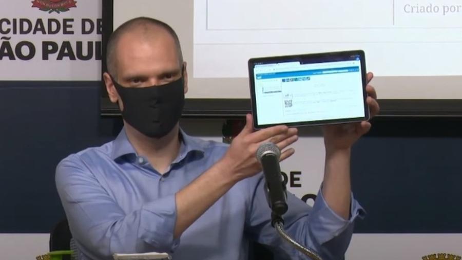 Então prefeito, Bruno Covas prometeu entregar 465 mil tablets a alunos da rede municipal   - Reprodução