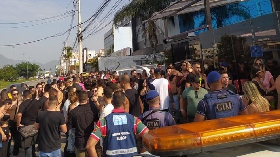 Evento acontecia na manhã de hoje na Barra da Tijuca - Divulgação/SEOP