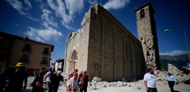 Amatrice é considerada um patrimônio muito importante, uma cidade projetada fundada no século 12 - Filippo Monteforte/ AFP