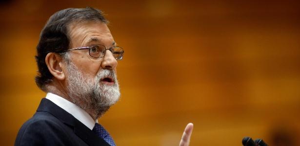 O governo de Mariano Rajoy deverá adotar medidas para suprimir a autonomia da Catalunha - Oscar Del Pozo/AFP