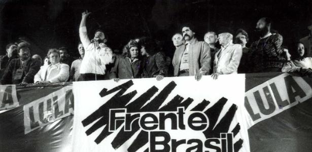 No palanque de Lula de 1989, havia José Paulo Bisol, Luiza Erundina, Luiz Gushiken, Marisa Letícia, Eduardo Suplicy, Olívio Dutra, Plínio de Arruda Sampaio e Hélio Bicudo