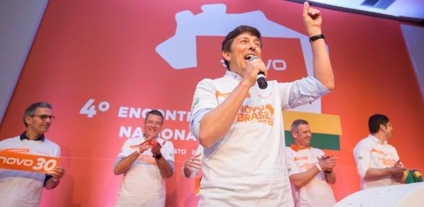 4.ago.2018 - João Amoêdo é oficializado como candidato do Novo à Presidência da República durante convenção realizada em São Paulo